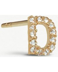 Annoushka - Initial D 18ct Gold And Diamond Stud Earring - Lyst