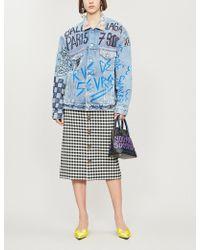 Balenciaga - Graffiti Oversized Denim Jacket - Lyst