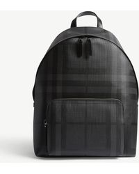 Burberry - London Check Leather Trim Backpack - Lyst