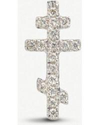 Annoushka - Cross Love Diamonds 18ct White Gold And Diamond Single Stud Earring - Lyst