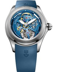 Corum - Bubble 47 Skeleton Stainless Steel Open-worked Automatic Watch - Lyst