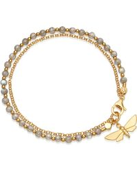 Astley Clarke - Moth Biography 18ct Gold And Labradorite Bracelet - Lyst