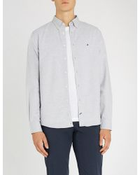 Tommy Hilfiger - Embroidered-logo Regular-fit Cotton Shirt - Lyst