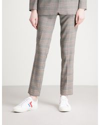 Ba&sh - Gody Prince Of Wales Checked Mid-rise Woven Trousers - Lyst