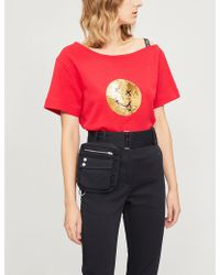 Izzue - Sequin-embellishment Cotton-blend T-shirt - Lyst