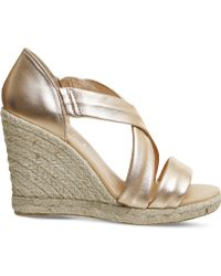 Office | Holiday Cross-front Espadrille Wedges | Lyst