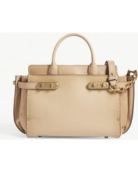 566ceb11bc5f Coach Soft Swagger In Soft Grain Leather in Pink - Lyst