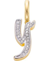 Monica Vinader - Alphabet 18ct Gold-vermeil And Diamond Pendant - Lyst