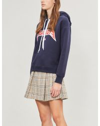 Claudie Pierlot - Logo-print Cotton-jersey Hoody - Lyst