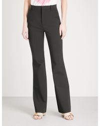 Gucci - Flared High-rise Crepe Trousers - Lyst