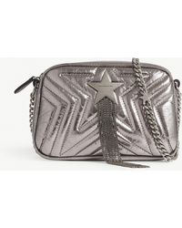 Stella McCartney - Ladies Silver Star Metallic Faux-leather Cross-body Bag - Lyst