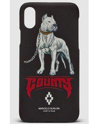 Marcelo Burlon - Dog Iphone X Cover Blk/multi - Black - Lyst