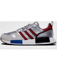 adidas Originals - Adidas Rising Star X R1 Silver Metallic/ Collegiate Red/ Ftw White - Lyst
