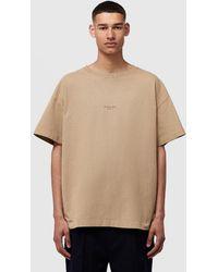 Acne Studios Box Fit T-shirt - Natural