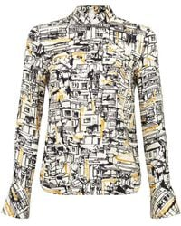 81a483ee257e62 Shanghai Tang - Mandarin Blouse With A Shaped Sleeve - Lyst