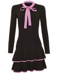 Shanghai Tang - Bow Knit Dress - Lyst