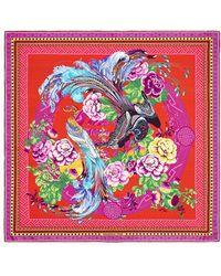 Shanghai Tang - Prodigy Print Silk Foulard - Lyst