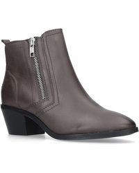 Carvela Kurt Geiger - Brown 'trust' Mid Heel Ankle Boots - Lyst