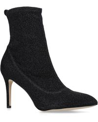 e06d25a830f6 Sam Edelman  pembrooke  Suede Leather Boots in Black - Lyst