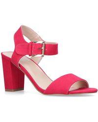 Carvela Kurt Geiger - Sadie Pink Heeled Sandal Block Heel - Lyst