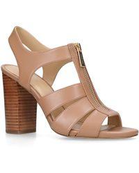 5e57b2b96f6 MICHAEL Michael Kors Damita Wedge Sandals in Blue - Lyst