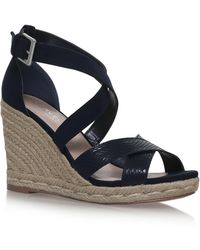 Carvela Kurt Geiger - Smashing Cross Strap Wedge Heeled Sandals - Lyst