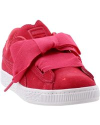 18cd17b40d09 Lyst - PUMA Basket Platform Valentine Women s Sneakers in Gray