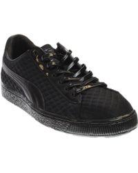 247dda049d5 Lyst - Puma X Meek Mill 24kwhite Men Round Toe Suede Silver Sneakers ...