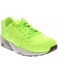 f4cb88e331ca Lyst - Puma R698 Bright Men Round Toe Canvas Blue Sneakers in Brown ...