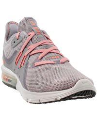 Pink Nike Air Max Sequent 4 w Swarovski Crystals (Laser FuchsiaMetallic Silver)