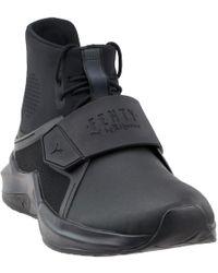 48cf87fc9864dd Lyst - PUMA Fenty Leather Platform Sneaker Boot in White
