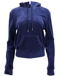 PUMA - Fenty By Rihanna Velour Hooded Pullover - Lyst