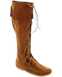 Minnetonka - Front Lace Knee High Boot - Lyst