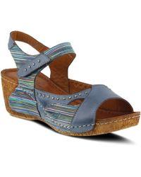 10cbbb97c9a Lyst - Bed Stu Jaslyn Strappy Platform Sandal in Brown