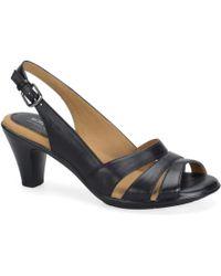 00b8e0830f446b Lyst - Softspots Naples Slingback Sandal in Black