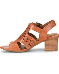 Amber Laser Cut Detail Block Heel Sandals U4ApX