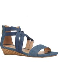 Kenneth Cole Reaction - Great Stretch Cross Strap Sandal - Lyst