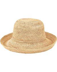 61e7aaf2075 San Diego Hat Company - Crochet Raffia Kettle Brim Hat Rhm6004 - Lyst