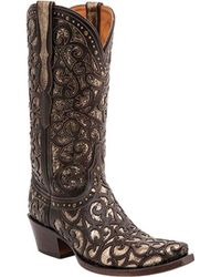dbc039134e4 Lyst - Lucchese Bootmaker Carrington W Toe Cowboy Boot in Gray