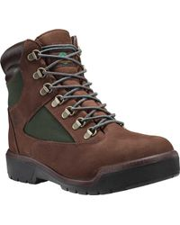 """Timberland - Field Boot 6"""" Fabric And Leather Waterproof Boot - Lyst"""