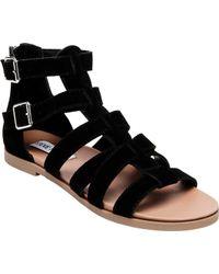 409895f53c7a Lyst - Steve Madden Habtat Calf Hair Sandals in Black