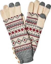 San Diego Hat Company | Fair Isle Glove With Button Kng3464 | Lyst