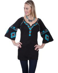 Scully - Split Neck Tunic Hc304 - Lyst