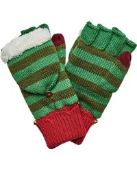 San Diego Hat Company - Striped Elf Pop Over Glove With Bells Kng3474 - Lyst