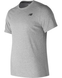 New Balance - Mt73080 Heather Tech Short Sleeve Tee - Lyst
