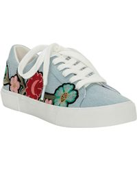 Jessica Simpson - Dessa Denim Embroidered Floral Patch Sneakers - Lyst
