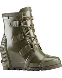Sorel | Joan Rain Wedge Gloss Boot | Lyst
