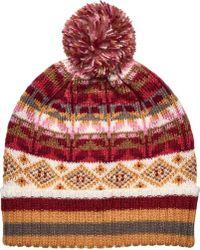 San Diego Hat Company - Intarsia Knit Beanie With Pom Knh3526 - Lyst
