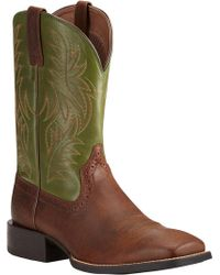 Ariat - Sport Western Wide Square Toe Boot - Lyst
