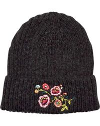 579ae03f3ae San Diego Hat Company - Rib Knit Beanie With Floral Embroidery Knh3550 -  Lyst
